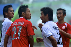 INDONESIAN SOCCER GAME Stock Photography