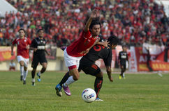 INDONESIAN SOCCER GAME Royalty Free Stock Photo