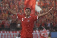 INDONESIAN SOCCER TROUBLES Stock Images