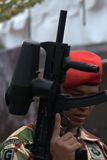 Indonesian soldier Royalty Free Stock Image