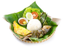 Indonesian special fish dish, Ikan, on background Stock Photos
