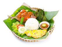 Indonesian special fish dish, Ikan, on background Stock Image