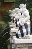 The Indonesian statue in skirts SARONG Royalty Free Stock Images