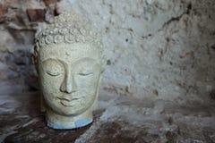 Indonesian stone Buddha head beautiful Royalty Free Stock Images