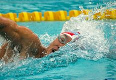 INDONESIAN SWIMMER Royalty Free Stock Photos