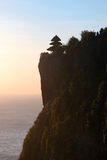 Indonesian temple on the mountain at the sunset Royalty Free Stock Photography
