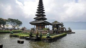 Indonesian Temple Religion Bali Slowmotion 4k. A typical Indonesian temple on the water. 4k footage stock video footage