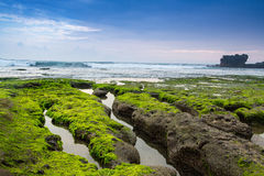Indonesian temple in sea Tanah lot complex. Bali. Indonesia Stock Image