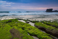 Indonesian temple in sea. Tanah lot complex. Bali. Indonesia Royalty Free Stock Photos