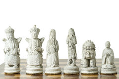 Indonesian Terracotta Chessmen Royalty Free Stock Photography