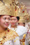Indonesian Traditional Dancer from Lampung Stock Photo