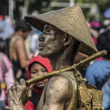Indonesian traditional fisherman. Traditional indonesian costume for ceremony Royalty Free Stock Image