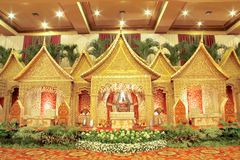 Indonesian Traditional Wedding Decoration Royalty Free Stock Photo