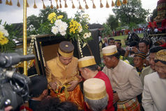 INDONESIAN TRADITIONAL WEDDING RITUALS Stock Images