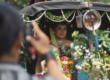 INDONESIAN TRADITIONAL WEDDING RITUALS Royalty Free Stock Image