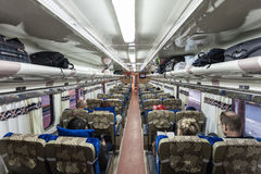 Indonesian train interior Royalty Free Stock Images