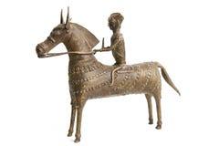 Indonesian Warrior on Horseback Royalty Free Stock Images