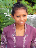 Indonesian woman dressed for festival, W. Stockbridge, MA Royalty Free Stock Photo