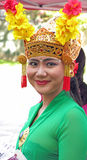 Indonesian woman dressed for festival, W. Stockbridge, MA Royalty Free Stock Photos