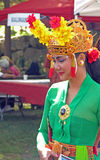 Indonesian woman dressed for festival, W. Stockbridge, MA Stock Photo