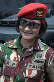 Indonesian woman soldier Royalty Free Stock Images
