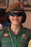 Indonesian woman soldier Stock Photo