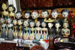 Indonesian wood carving souvenir Royalty Free Stock Photos