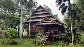 Indonesian Wooden House Royalty Free Stock Image