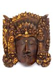 Indonesian Wooden Mask. Intricate Indonesian mask carved out of wood Royalty Free Stock Photography