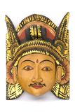 Indonesian Wooden Mask. Intricate Indonesian mask carved out of wood Royalty Free Stock Images