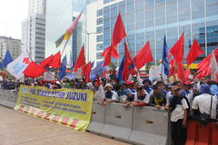 Indonesian Workers Protest in Labor Day Stock Images