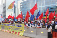 Indonesian Workers Rally in Labor Day Royalty Free Stock Image