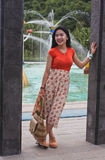 Indonesian young girl with a sweet smile Royalty Free Stock Photography