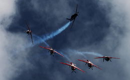 Indonesien Aerobatic Team Jupiter Lizenzfreie Stockfotos