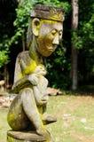 Indonesien Borneo - stam- kultur för traditionell Dayak arkivfoton