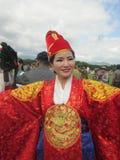 Indonesien festival, Polewali Mandar, västra Sulawesi Arkivfoto