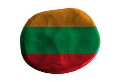 Indonesien flagga, flaggalera på vit bakgrund Fotografering för Bildbyråer