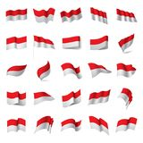 Indonesien-Flagge, Vektorillustration stock abbildung