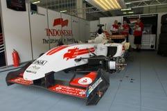 Indonesien-Grubenbesatzungen des Team-A1 nehmen einen Bruch Lizenzfreies Stockbild