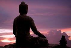 Indonesien, Java, Borobudur: Sonnenuntergang Lizenzfreie Stockfotos
