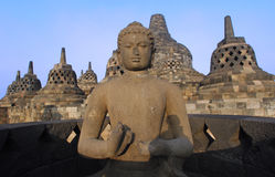 Indonesien, Java, Borobudur: Tempel Stockfoto