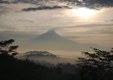 Indonesien, Java, Merapi Eruption Lizenzfreie Stockfotos