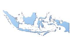 Indonesien-Karte Lizenzfreies Stockfoto