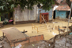 Indonesien katastrofstörtflod - Garut 003 Arkivbilder
