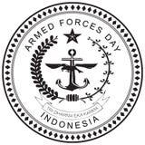 Indonesien krigsmaktdag Royaltyfria Bilder