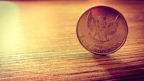 Indonesien-Münze stockfotografie