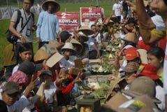 INDONESIEN NATIONELL MATRÄTT fotografering för bildbyråer