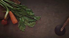 Indonesien-Reisschöpflöffel und das Gemüse stockbild