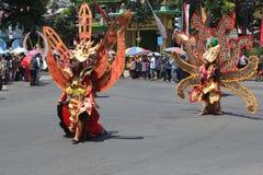 Indonesien självständighetsdagenkarneval Arkivfoto