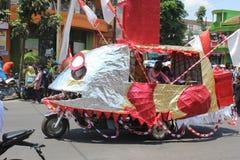 Indonesien självständighetsdagenkarneval Arkivfoton